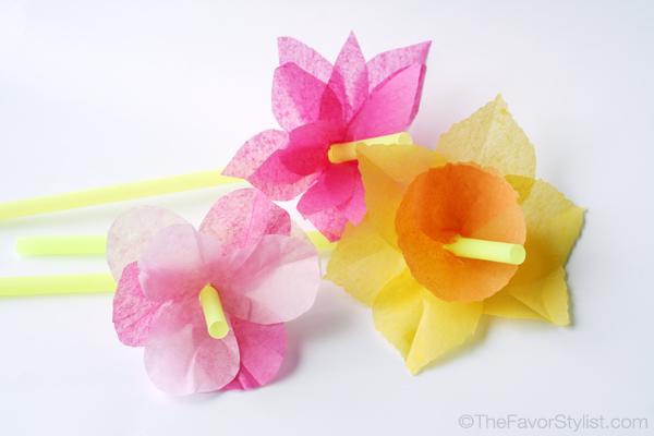 paper flower straws