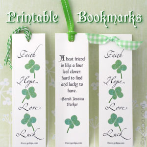 Printable: St. Patrick's Day Bookmarks