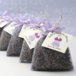 dried lavender buds sachet favors
