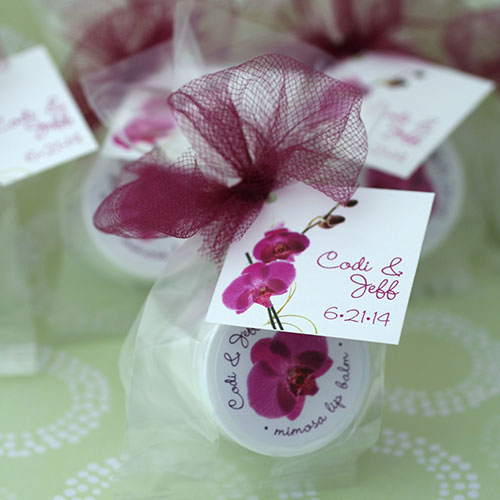 Wedding Custom Tag + Label Lip Balm