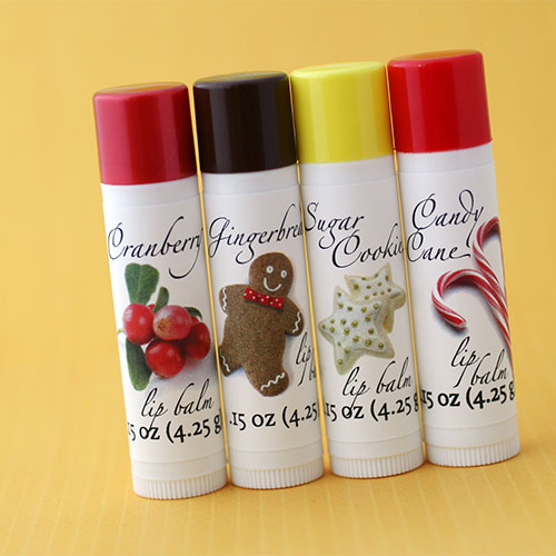 Holiday Party Favors - Custom Lip Balm Tubes