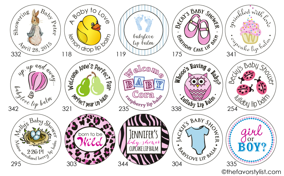 baby shower labels