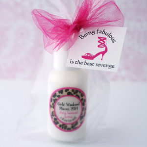 Divorce celebration ideas lotion favors