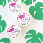 flamingo lip balm favors