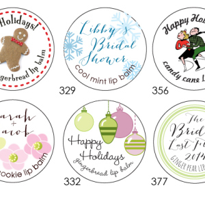 Holiday Party Labels