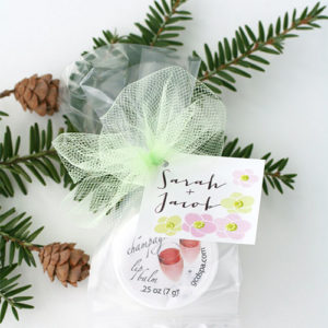 Winter wedding ideas Lip Balm Favors + Custom Tags