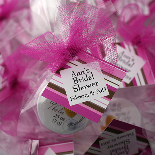 Bridal Shower Party Favors - Custom Tag Lip Balm