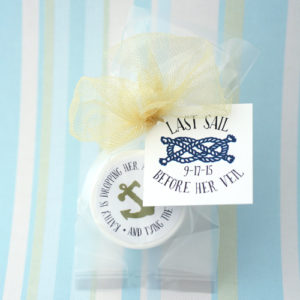 Bridal Shower Lip Balm – Custom Tag + Label