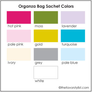 organza bag sachet colors