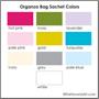 organza bag sachet colors