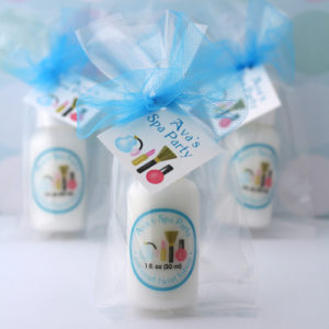 personalized party favor lotions