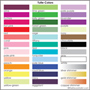 tulle color options