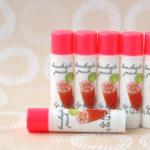 beachside peach lip balm tubes