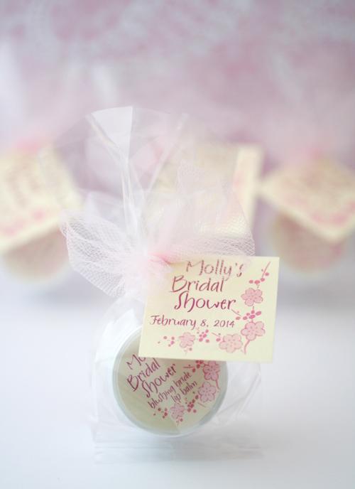cherry blossom bridal shower favors