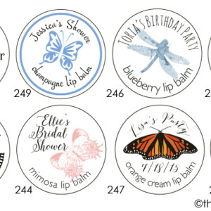 Butterfly Wedding Favors & Ladybug Shower Themes