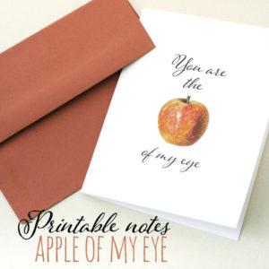 Apple of My Eye   Printable Notes