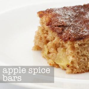 Apple Spice Bars   Tuesday's Tip