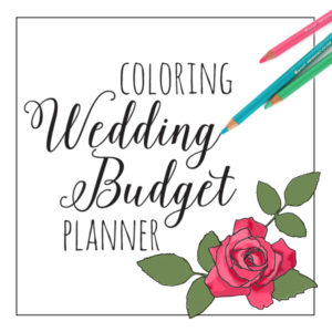Coloring Wedding Budget Planner