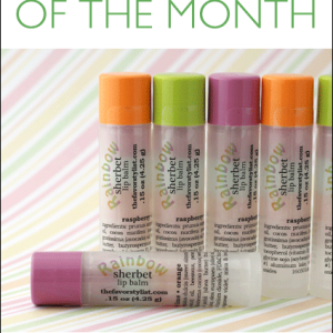 Rainbow Sherbet Lip Balm | The Flavor of the Month