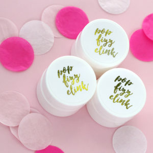 Bridal Shower Lip Balms Custom Foil Labels