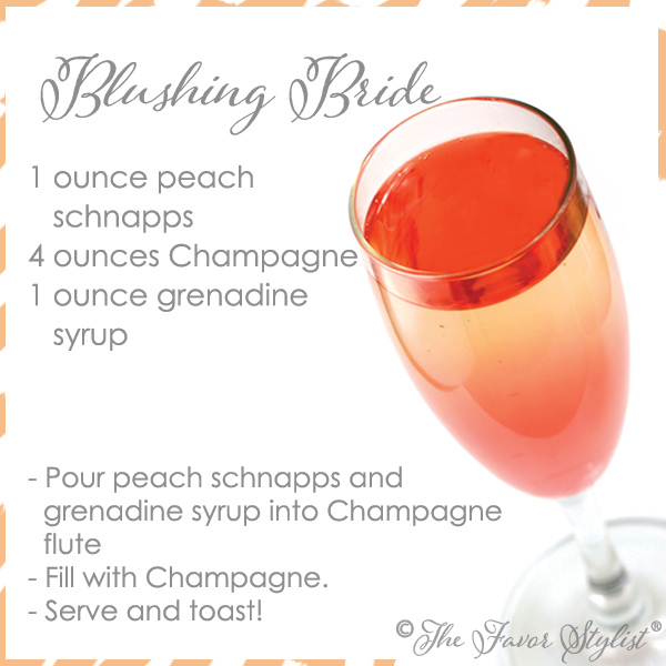 5 nontraditional bridal shower cocktails the favor stylist for Cocktail recipe by ingredients