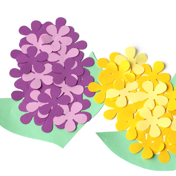 how to make paper hyacinths the favor stylist. Black Bedroom Furniture Sets. Home Design Ideas