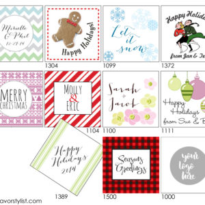 holiday party tags