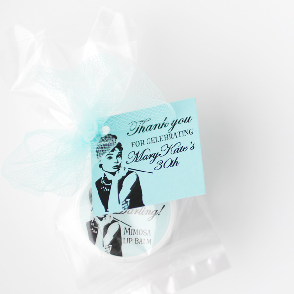 breakfast at tiffany's party favors
