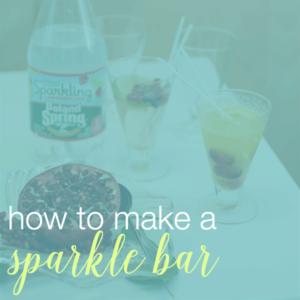 sparkling water bar