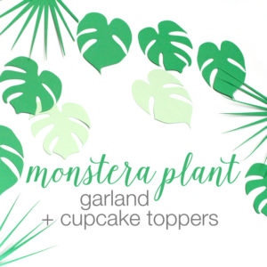 monstera plant garland