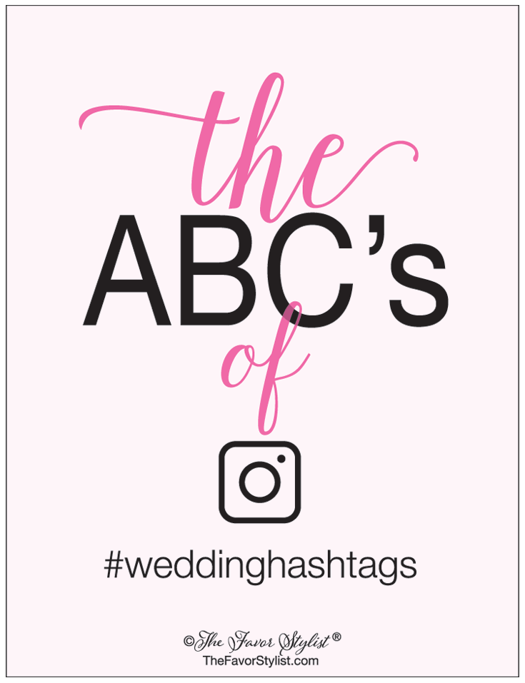 abcs of wedding hashtags