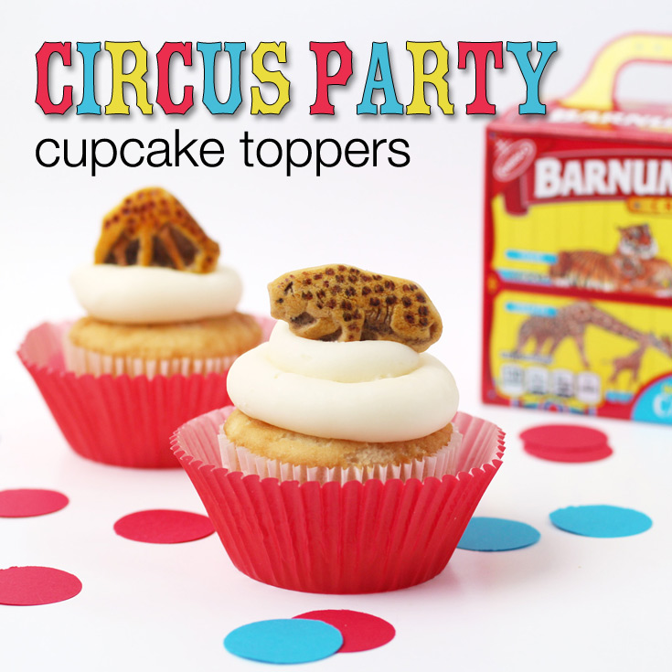 circus party cupcake toppers