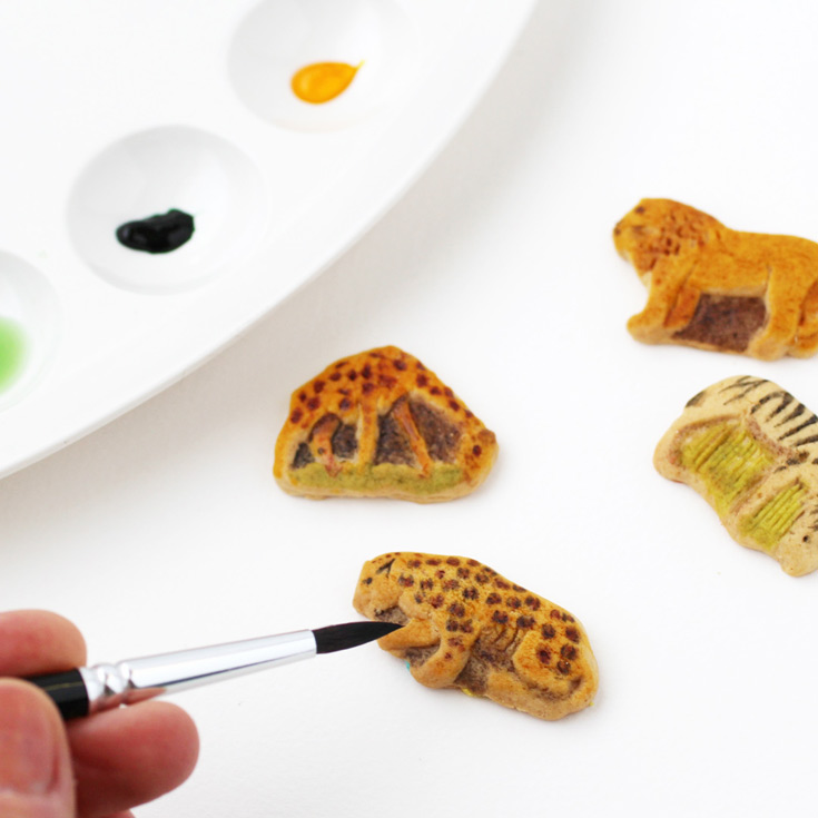 painting animal crackers