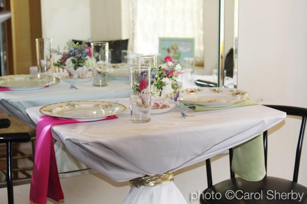 1950's vintage brunch table setting