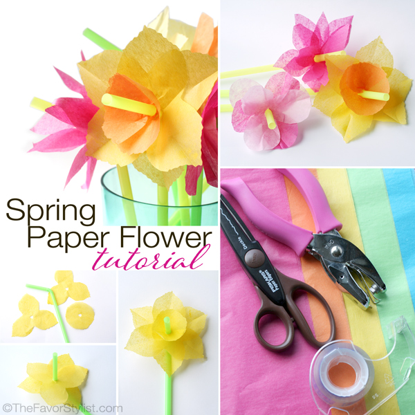 Spring flower theme party part i tissue paper flowers tissue paper flower tutorial mightylinksfo