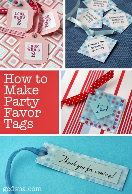 how to make party favor tags