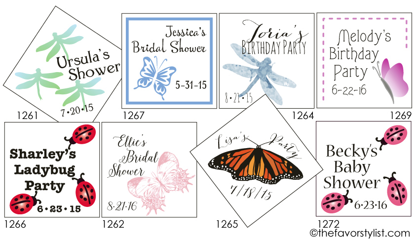 ladybug party favor tags