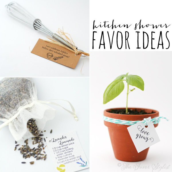 kitchen shower favor ideas