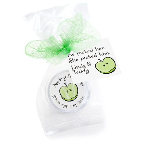 appley ever after favors lip balms
