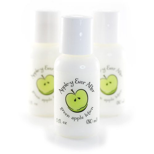 apple theme party favors lotions