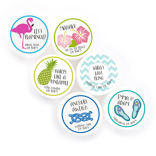 beach party favors lip balms