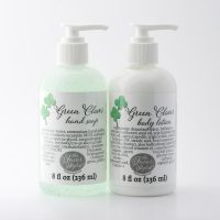 green clover lotion and bath gel
