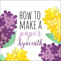 how to make a paper hyacinth