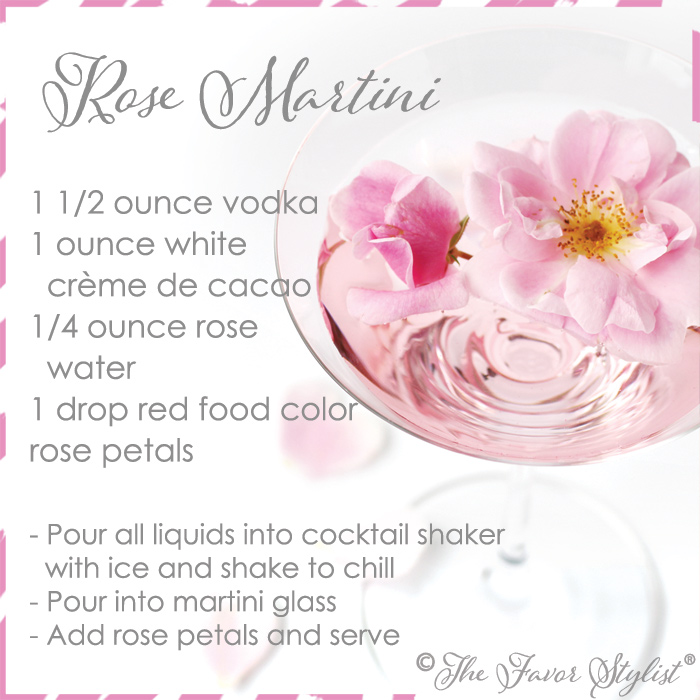 rose martini recipe