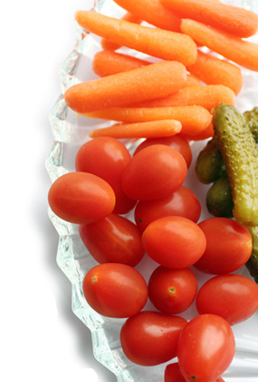kids eat vegetables when they're raw and can be dipped