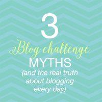 blog challenge myths