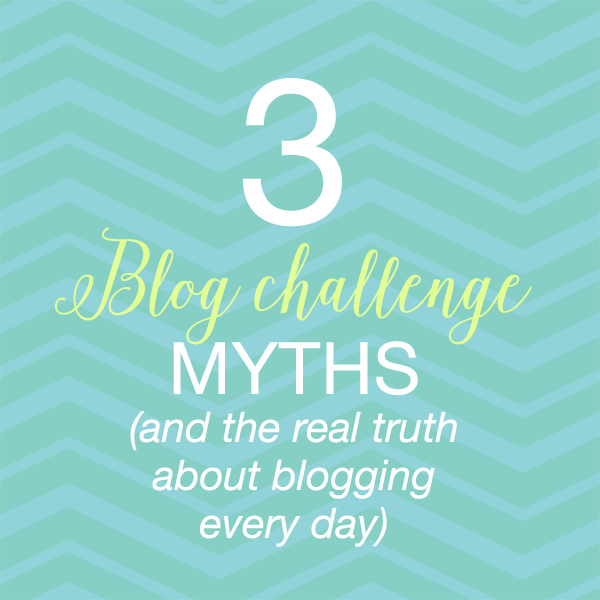blog challenge myths