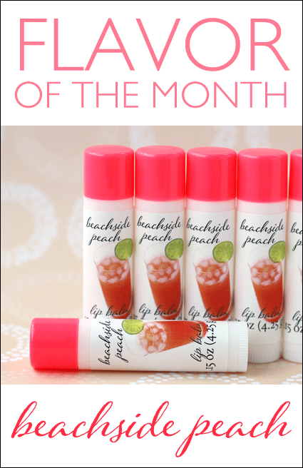 beachside peach lip balm