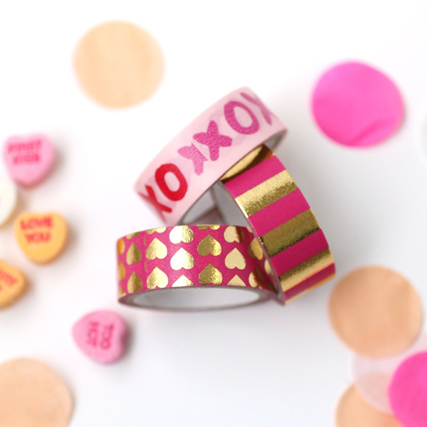 fun Valentine's Day ideas washi tape