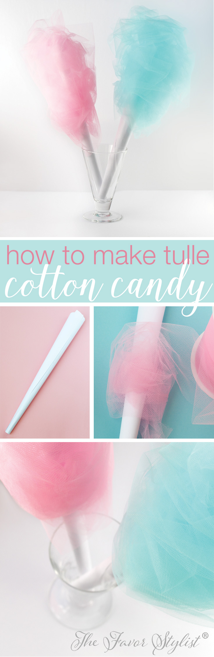 how to make tulle cotton candy